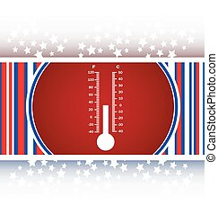 Thermometer web icon button vector