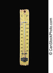 thermometer, weisen, 14, grade, celsius