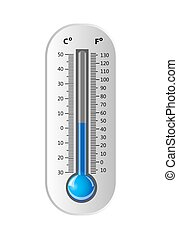 Thermometer white . Vector