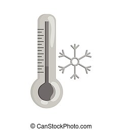 Thermometer with low temperature icon