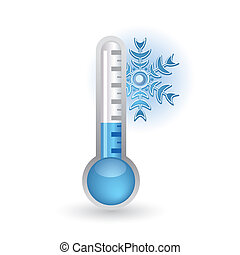 thermometer with snowflakes