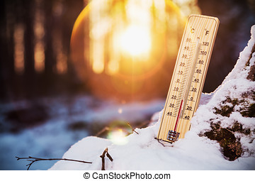 thermometer with sub-zero temperatures