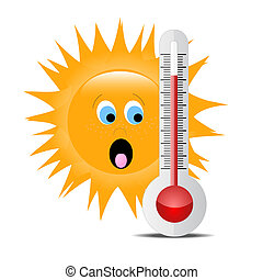 Thermometer with sun 2