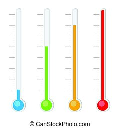 Thermometers icon set
