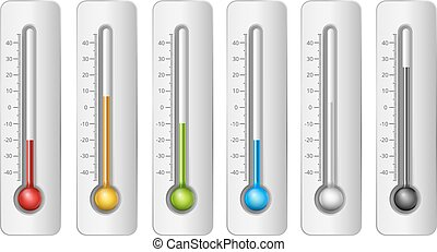 Thermometers in vector