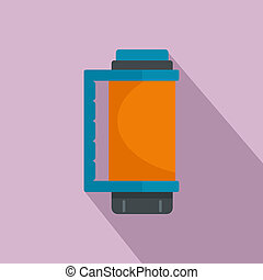 Thermos bottle icon, flat style