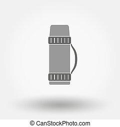 thermos, icon.