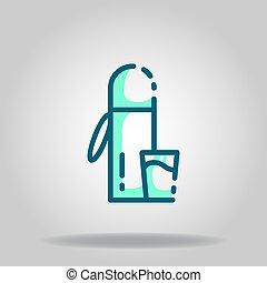 thermos icon or logo in  twotone - Logo or symbol of thermos...
