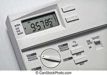 Thermostat 85 Degrees Cool - Note-85 degrees is the energy-...