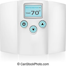 thermostat .eps - Air conditioner system vector
