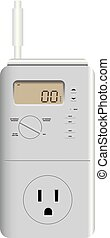 Thermostat for heating and cooling - Programmable thermostat...