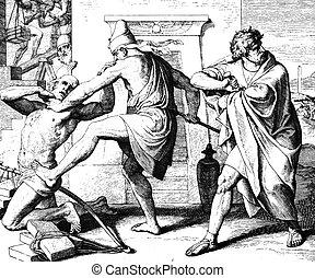 Moses kills the Egyptian