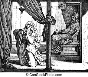 These engravings were written and published in 1873. These illustrations do not fall under the copyright laws. And do not require permission to publish. Hannah Prays for Child 1) Sacred-biblical history of the old and New Testament. two Hundred and forty images Ed. 3. St. Petersburg, 2) 1873. 3) ...