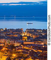 Thessaloniki at twilight, Greece