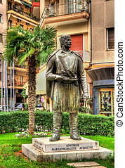 thessaloniki, cretan, macedonian-fighter, -, 像, ギリシャ