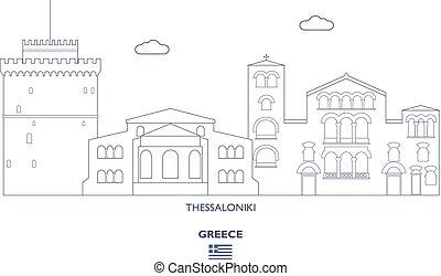 thessaloniki, skyline città, grecia