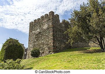thessaloniki, vecchio,  yedi,  koule, pareti, fortezza