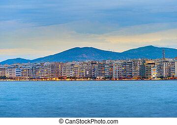 Thessaloniki waterfront skyline, Greece