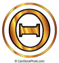 Theta Greek Letter - Theta a letter from the Greek alphabet...
