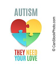 Autism awareness poster or brochure template.