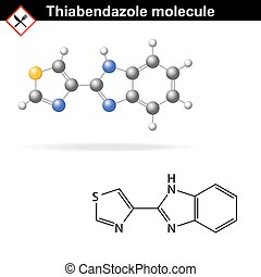 Thiabendazole molecular structure