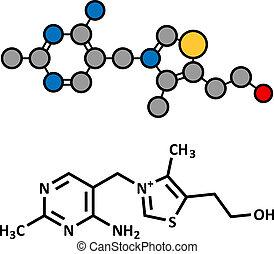 (thiamine), molecule., vitamin b1