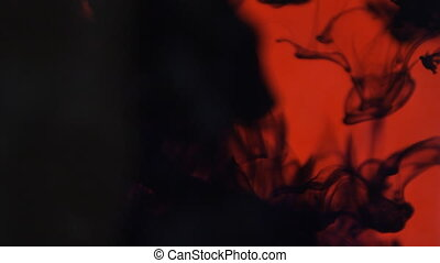 thick black dark red melt in water