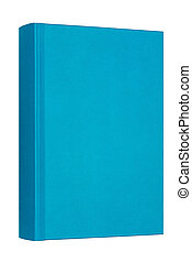 Thick blue book isolated on white background