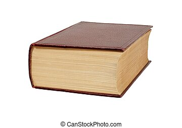 Thick book on white