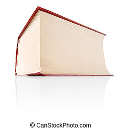Thick book. - Thick red book isolated on white background.