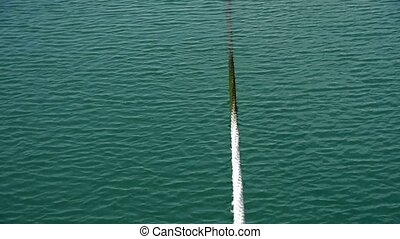 Thick cable tie yacht at Pier