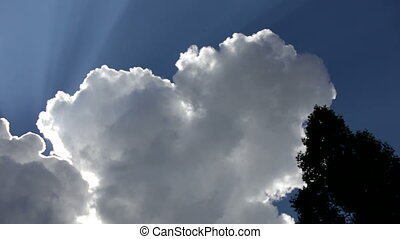 Thick clouds - Beautiful sky with thick clouds behind which...