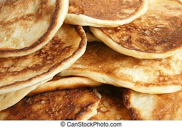 Thick pancakes macro texture background
