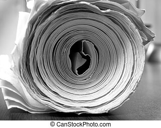 Thick Roll of Paper for Writing Newspaper or Blueprints Drawings