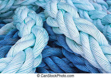 Thick rope marine close-up. Abstraction.