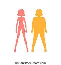 thick slim body icon