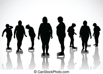 thick women - 8 figures of thick women are on the scales