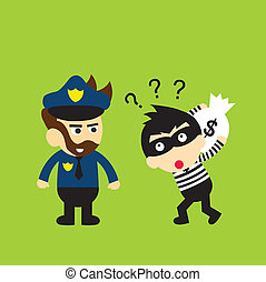 thief and policeman