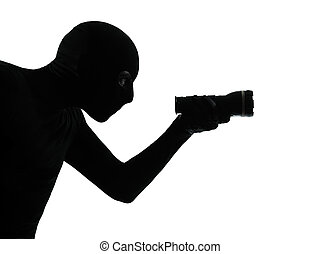 thief criminal burglar portrait silhouette masked