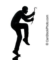 thief criminal walking quiet silhouette - thief criminal...