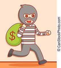 Thief  illustration design