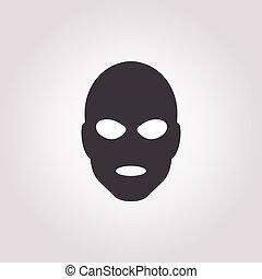 thief in mask icon on white background