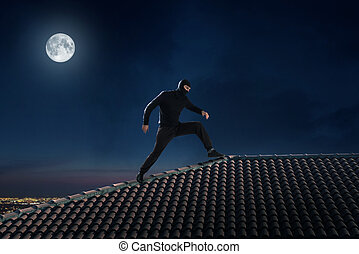 Thief on the roof