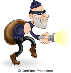 Thief or burglar - An illustration of a thief or burglar...