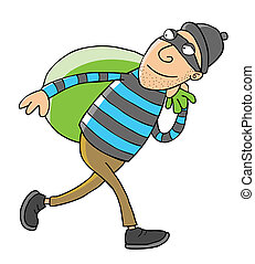 Thief - Represent a thief carries a bag full of goods. eps 8