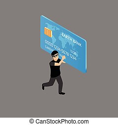 Thief running with credit card