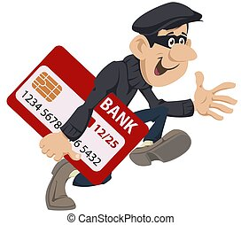 Thief runs with credit card. Funny people. - Funny people. ...