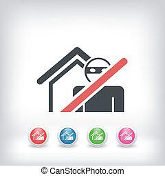 Thief security icon - Thief security concept