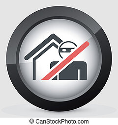 Thief security icon - Thief security concept