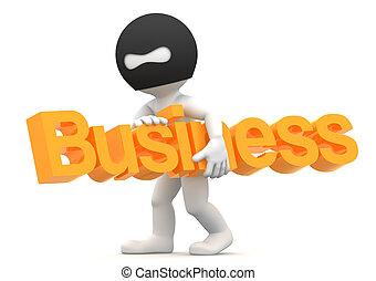"Thief stealing ""business"" word. Business seizure concept. ..."